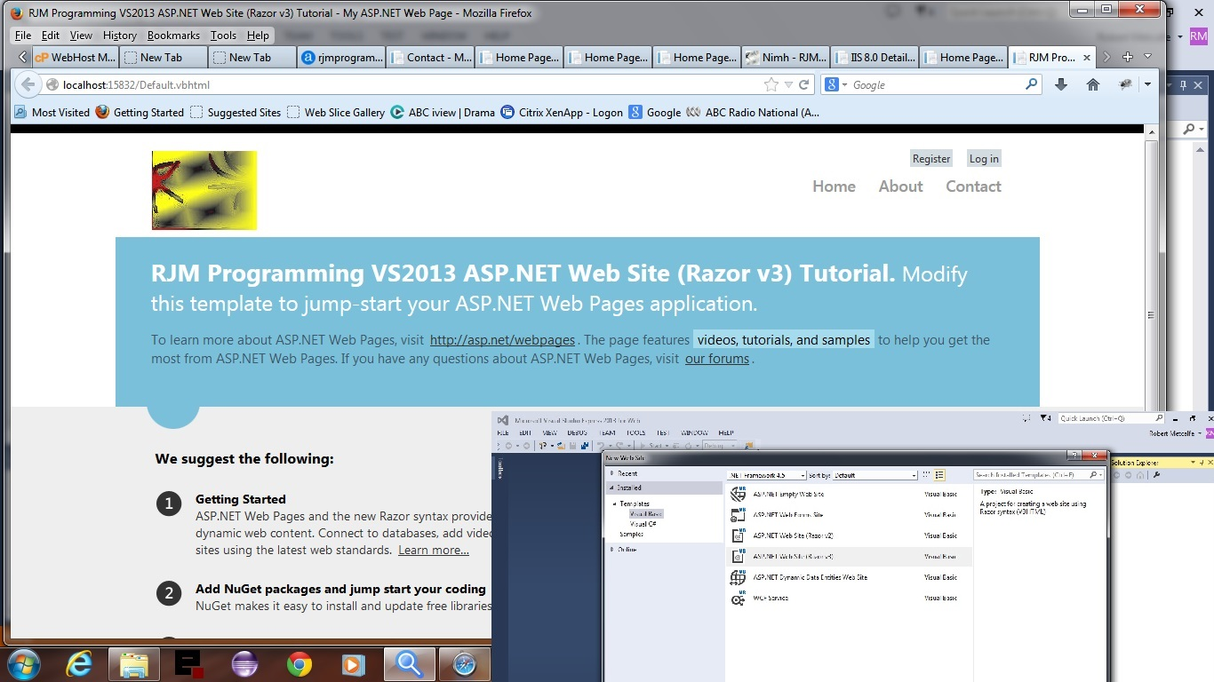 ASP.NET Website Razor v3 Primer Tutorial