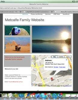 Example of a family Website Home Page ... click to see our Flyer