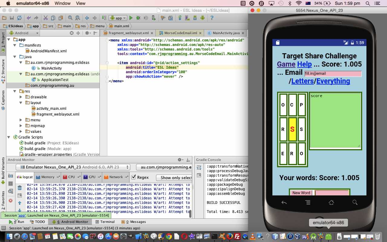 Android Studio on Mac OS X Primer Tutorial