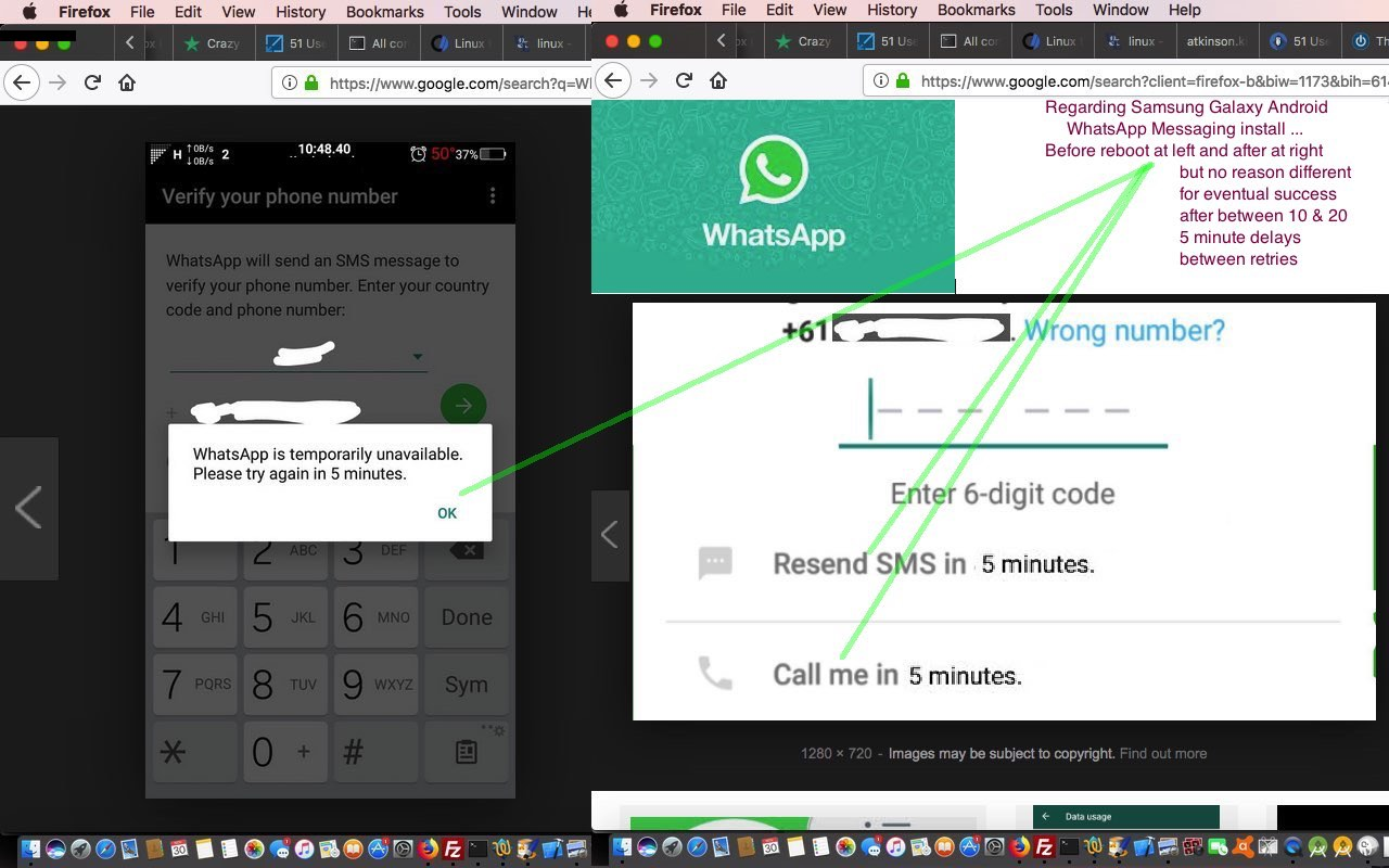 WhatsApp Open Ended Error Message Tutorial
