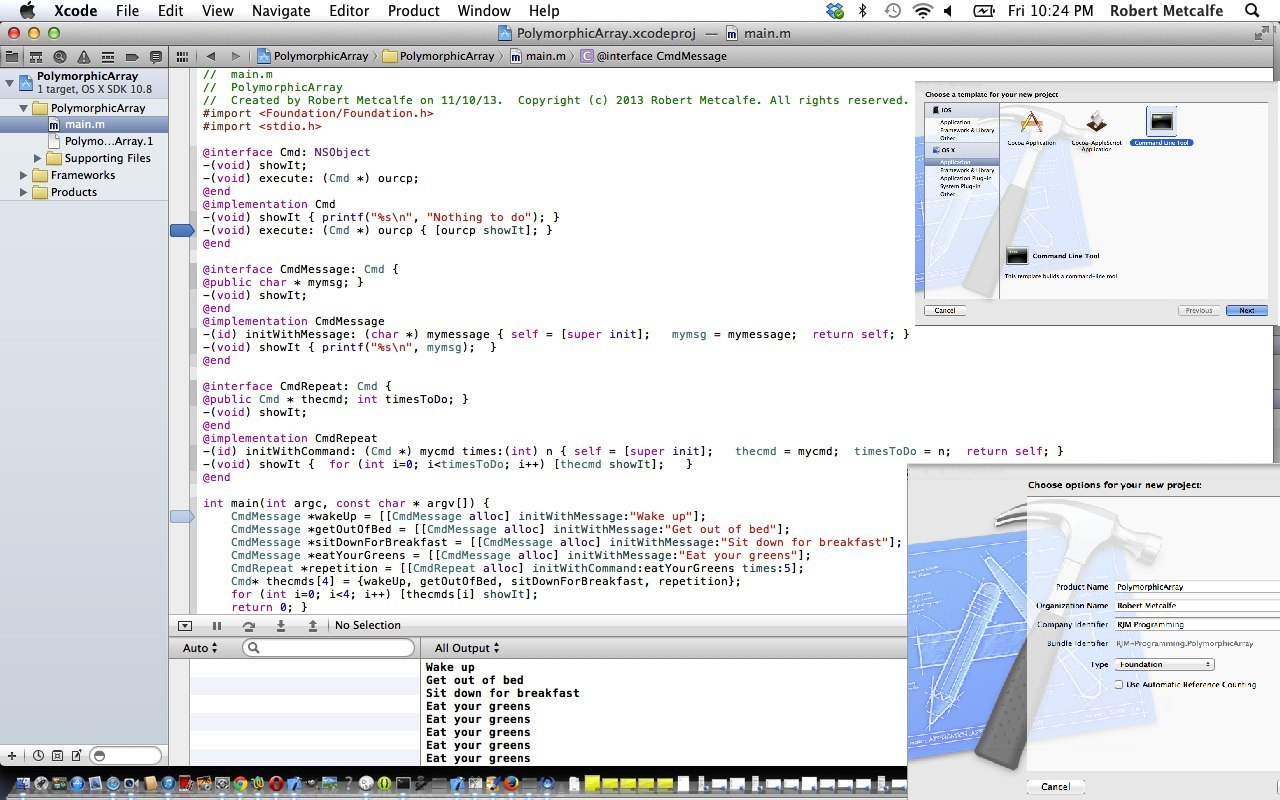 Xcode Objective-C Polymorphic Array Primer Tutorial | Robert Metcalfe ...