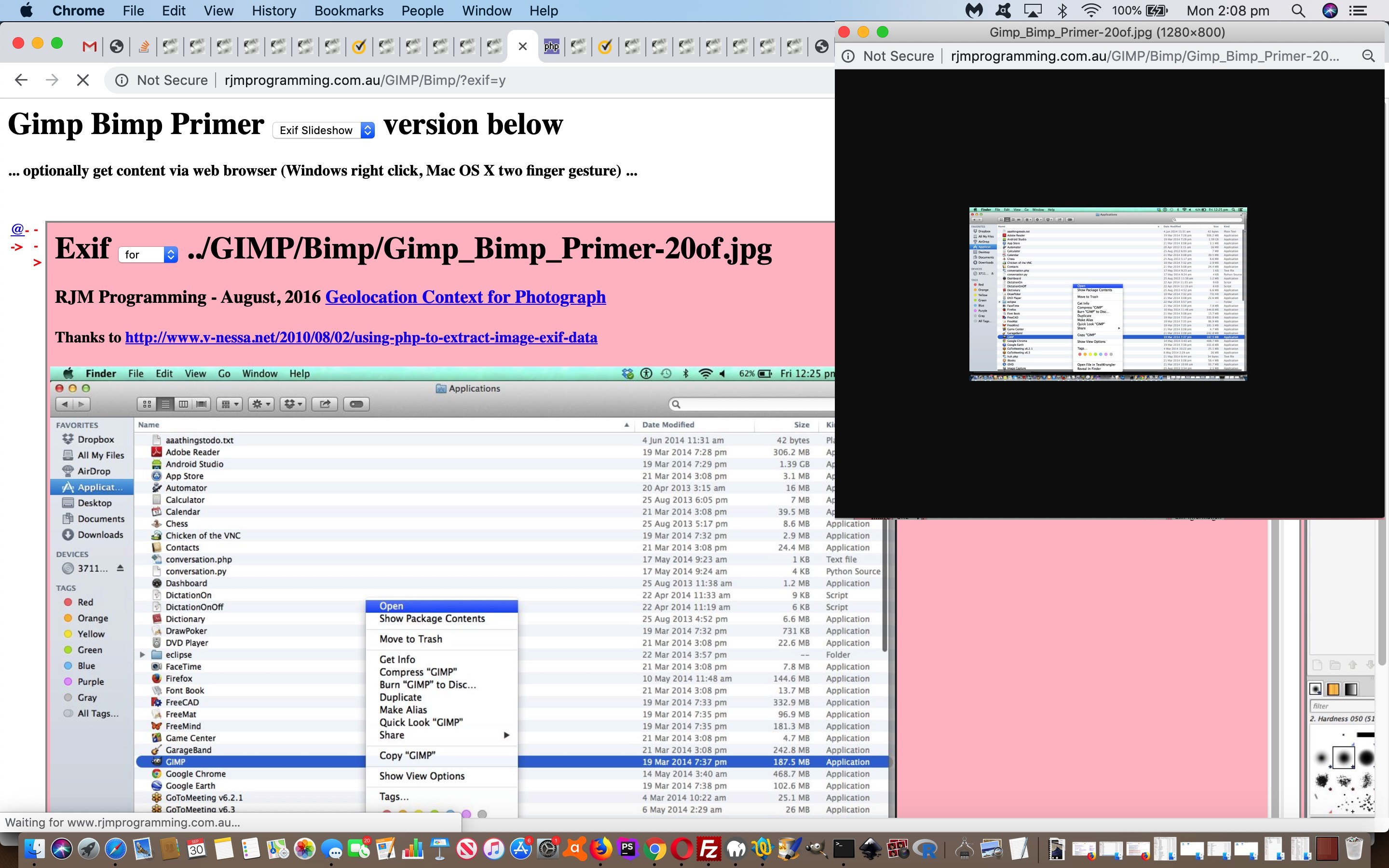 Inhouse Slideshow Design Exif Zip Tutorial