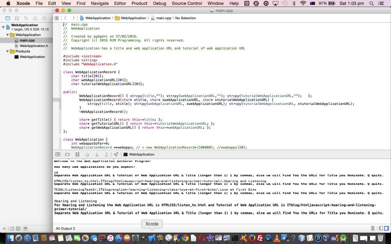 Xcode c web applications primer tutorial robert metcalfe blog xcode c web applications primer tutorial baditri Gallery