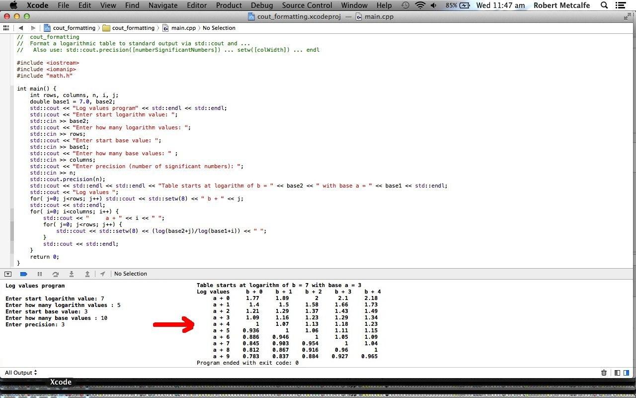 C++ Formatting cout Primer Tutorial | Robert Metcalfe Blog