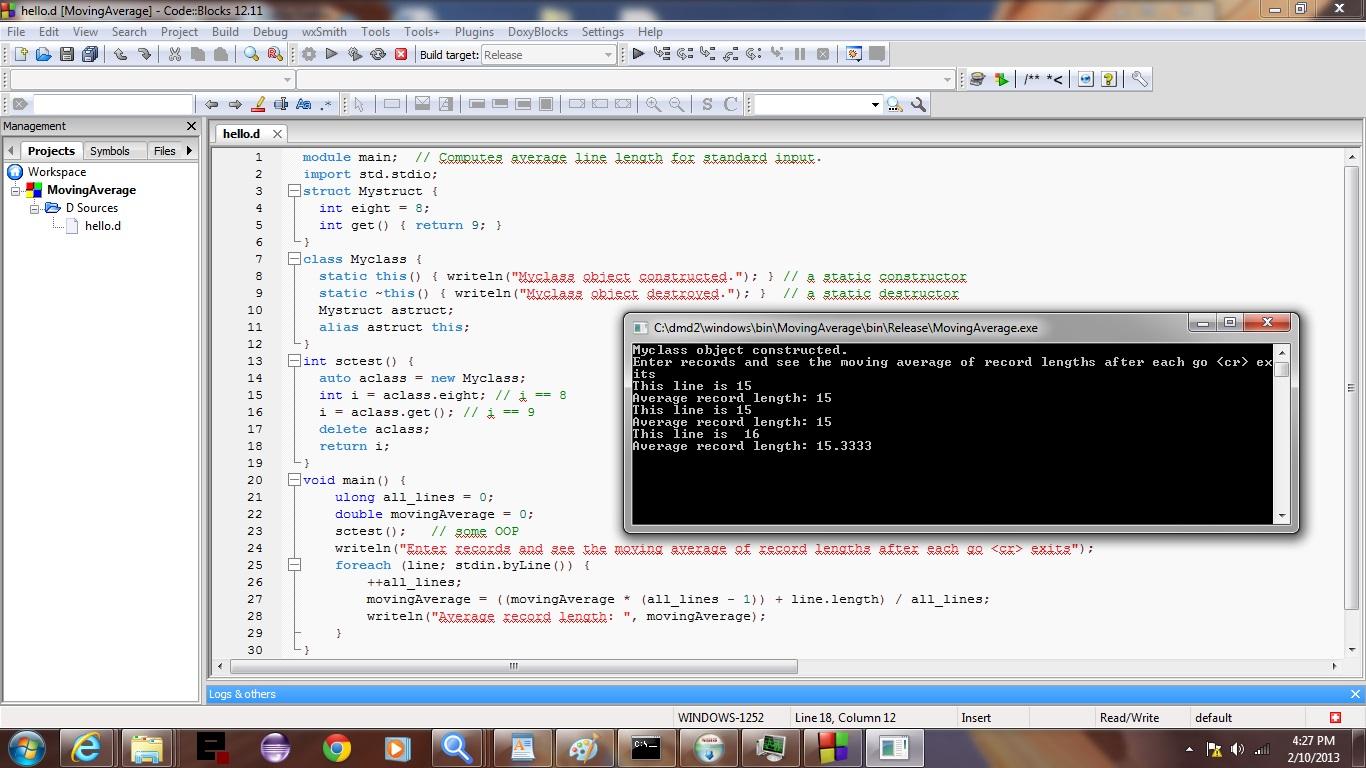 Code blocks ide d primer tutorial robert metcalfe blog Code compiler
