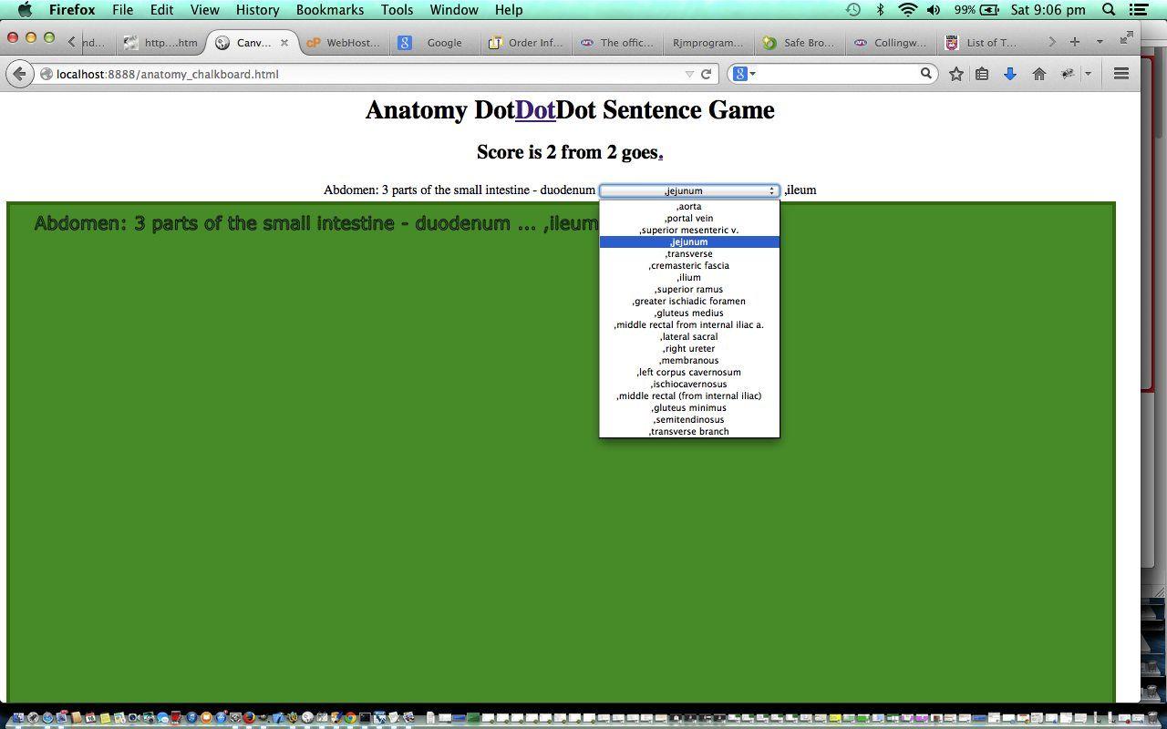 Htmljavascript Human Anatomy Game Tutorial Robert Metcalfe Blog