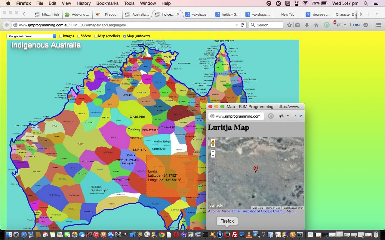 Australian Indigenous Language Image Map Ajax Tutorial