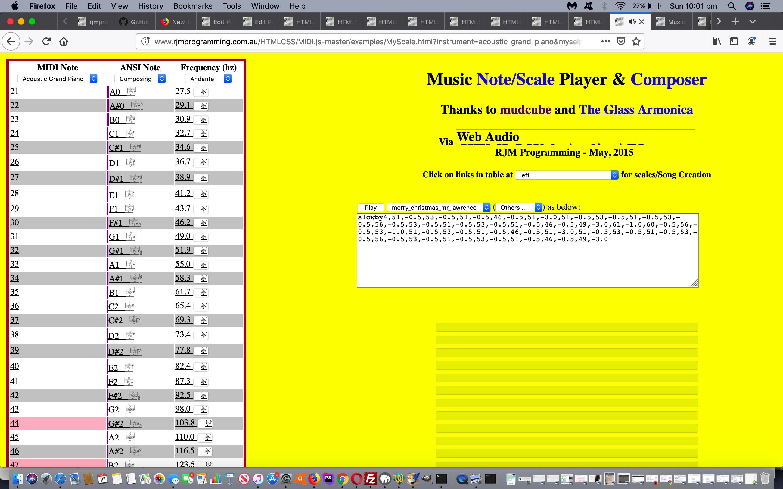 HTML5 Web Audio Mudcube Piano Integration Tutorial