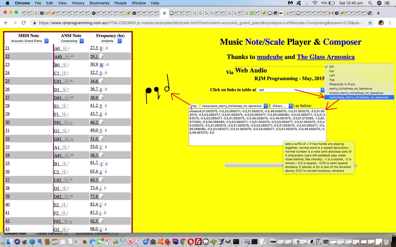 HTML5 Web Audio Mudcube Piano Integration Mobile Composing Tutorial