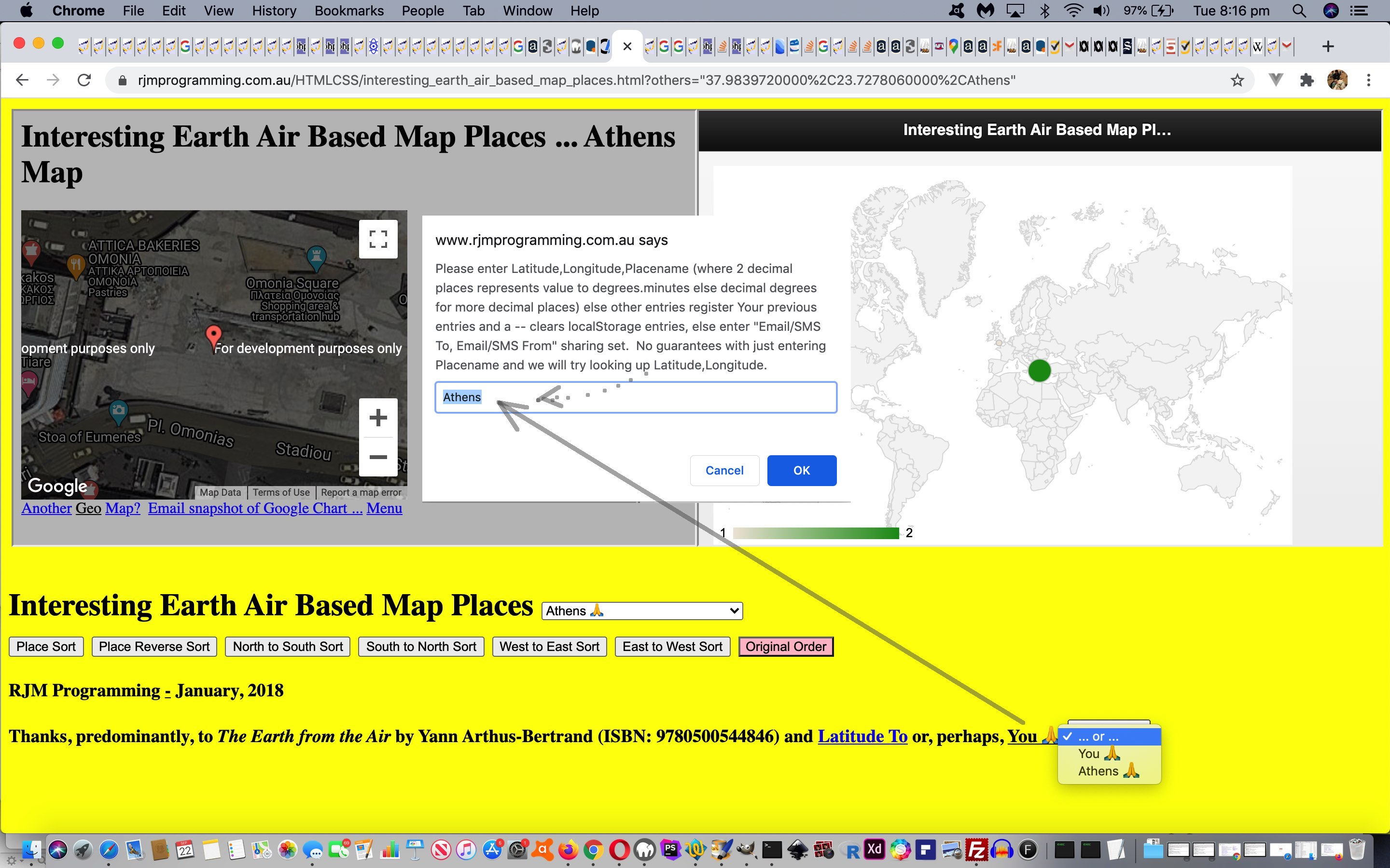 Personalizing Interesting Places Ajax FormData Tutorial