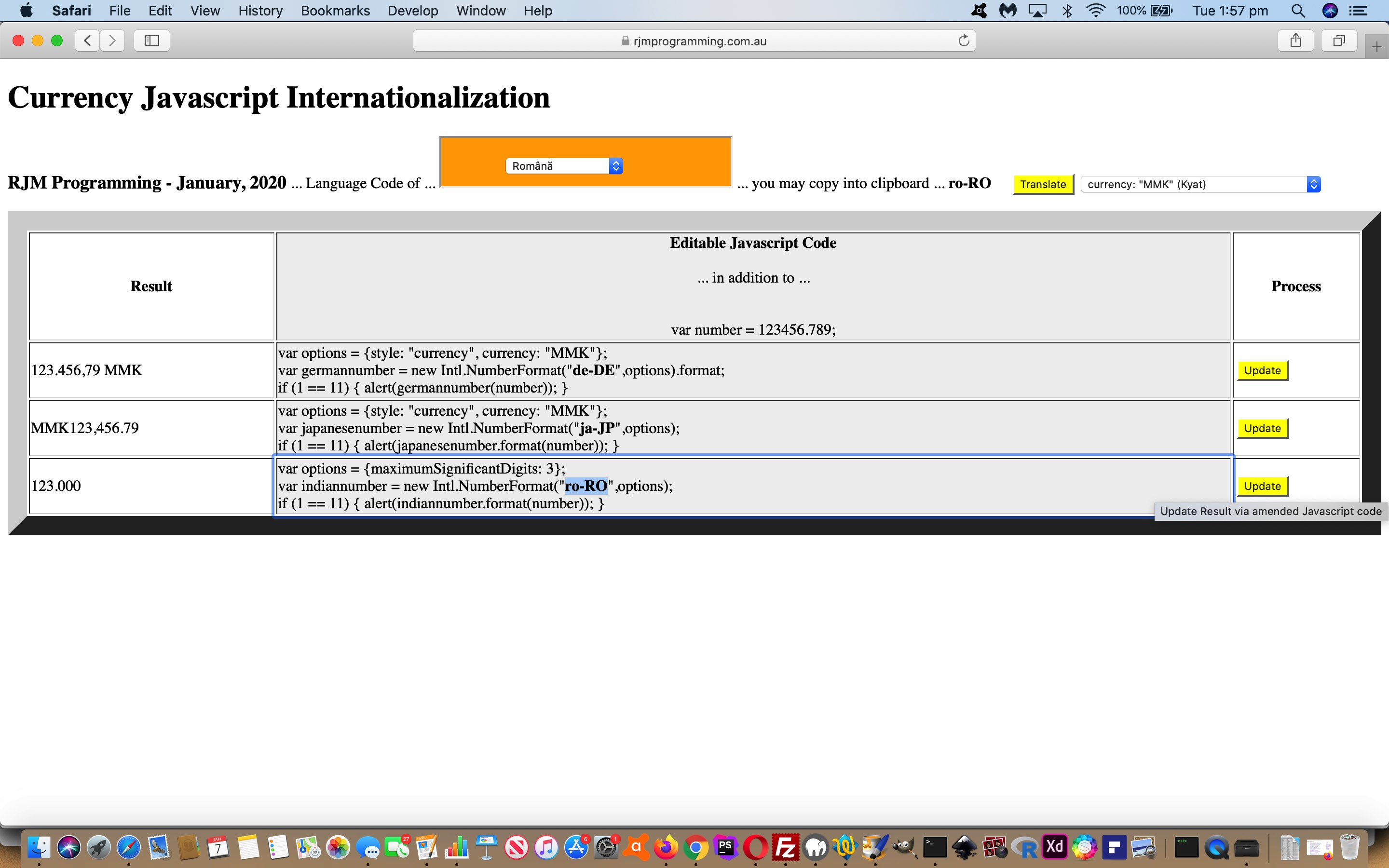 Currency Number Javascript Internationalization Tutorial