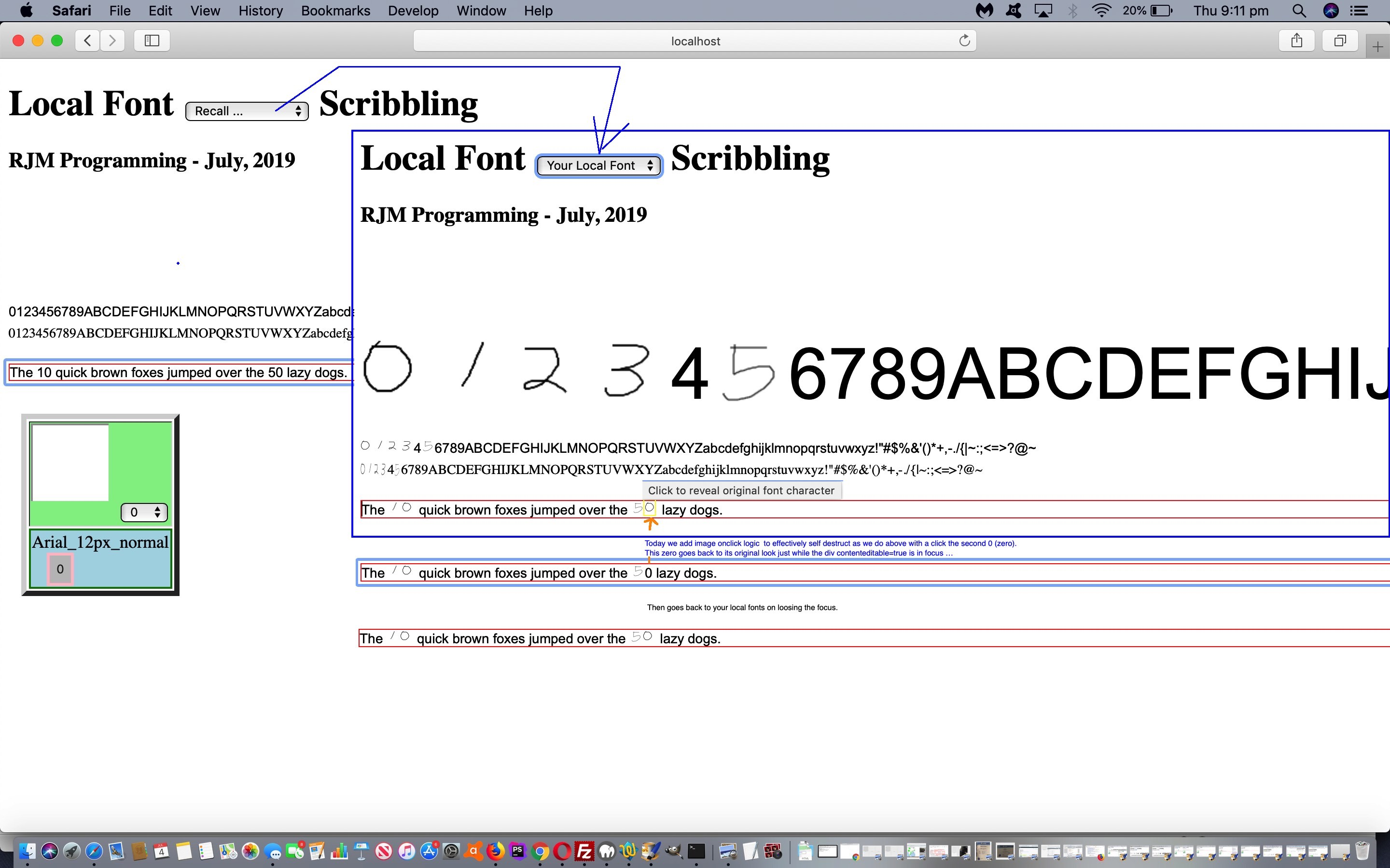 Local Fonts Revisited Onclick Tutorial