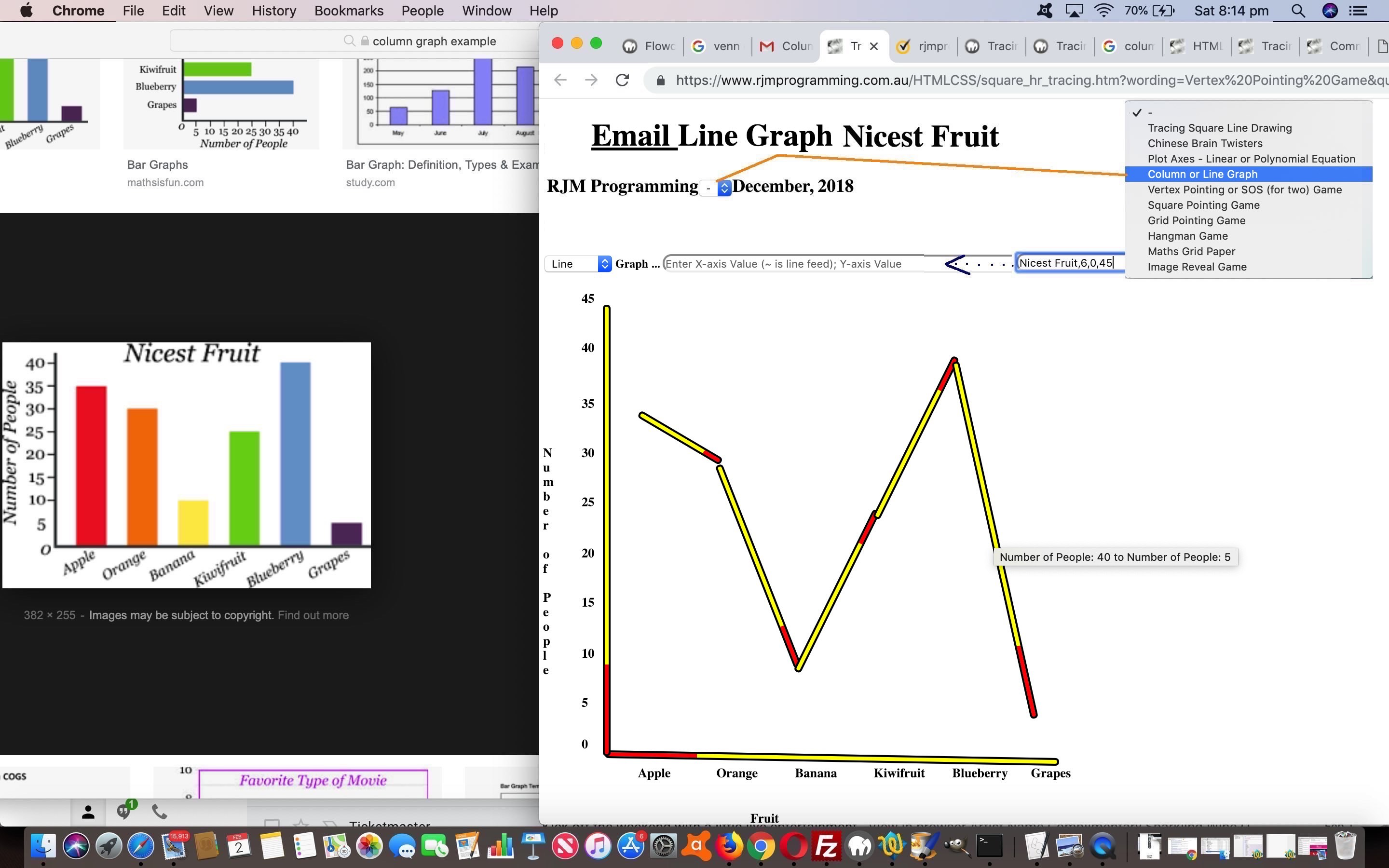 HTML Square Horizontal Rule Line Graph Tutorial