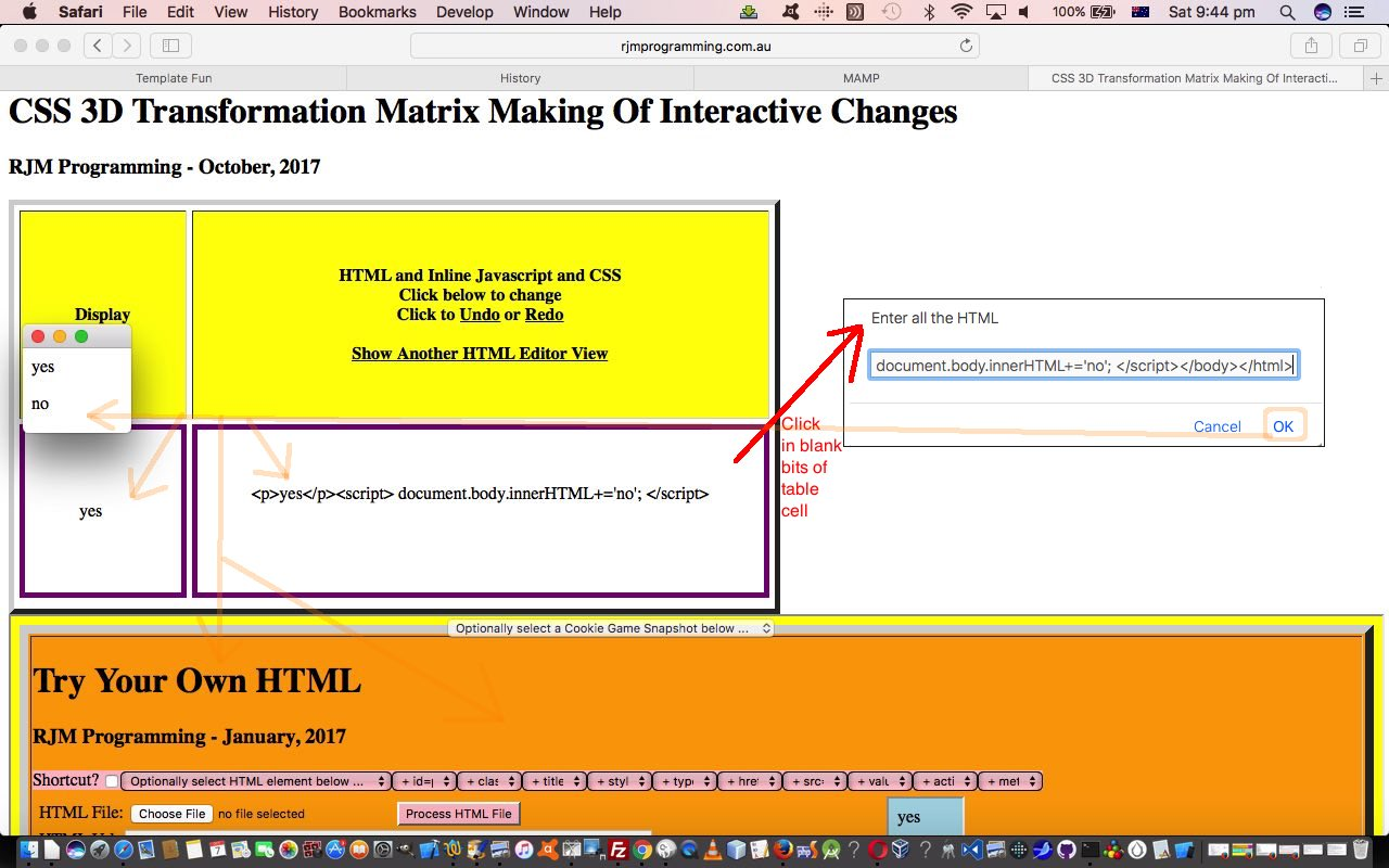 Css 3d transformation matrix making of interactive javascript tutorial robert james metcalfe blog - Css display table tutorial ...
