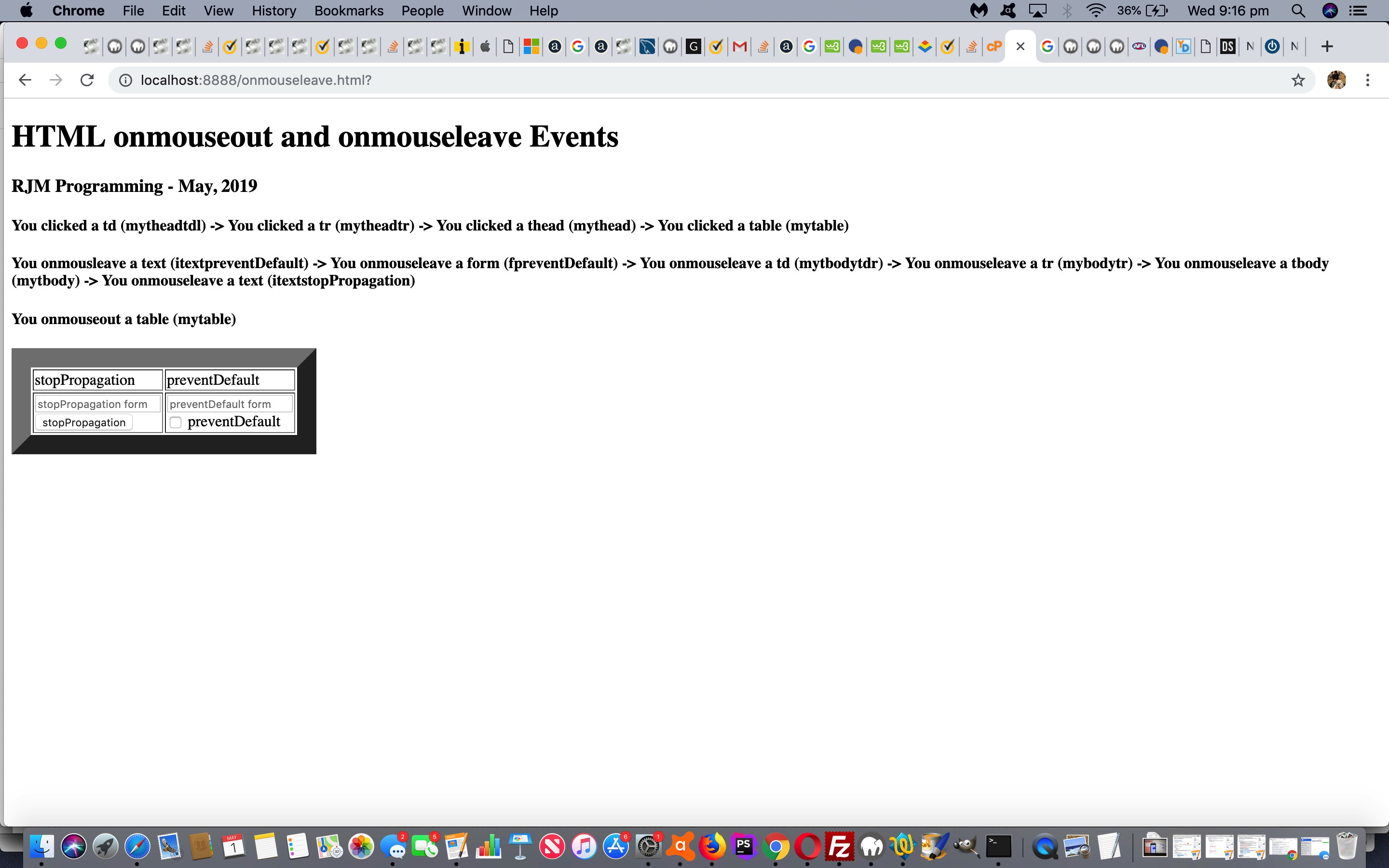 HTML Onmouseleave and Onmouseout Events Primer Tutorial