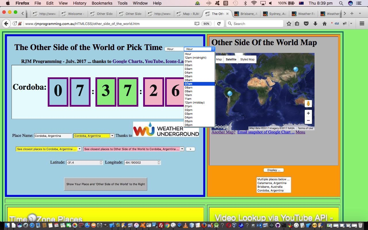 Other Side of the World Timezone Tutorial