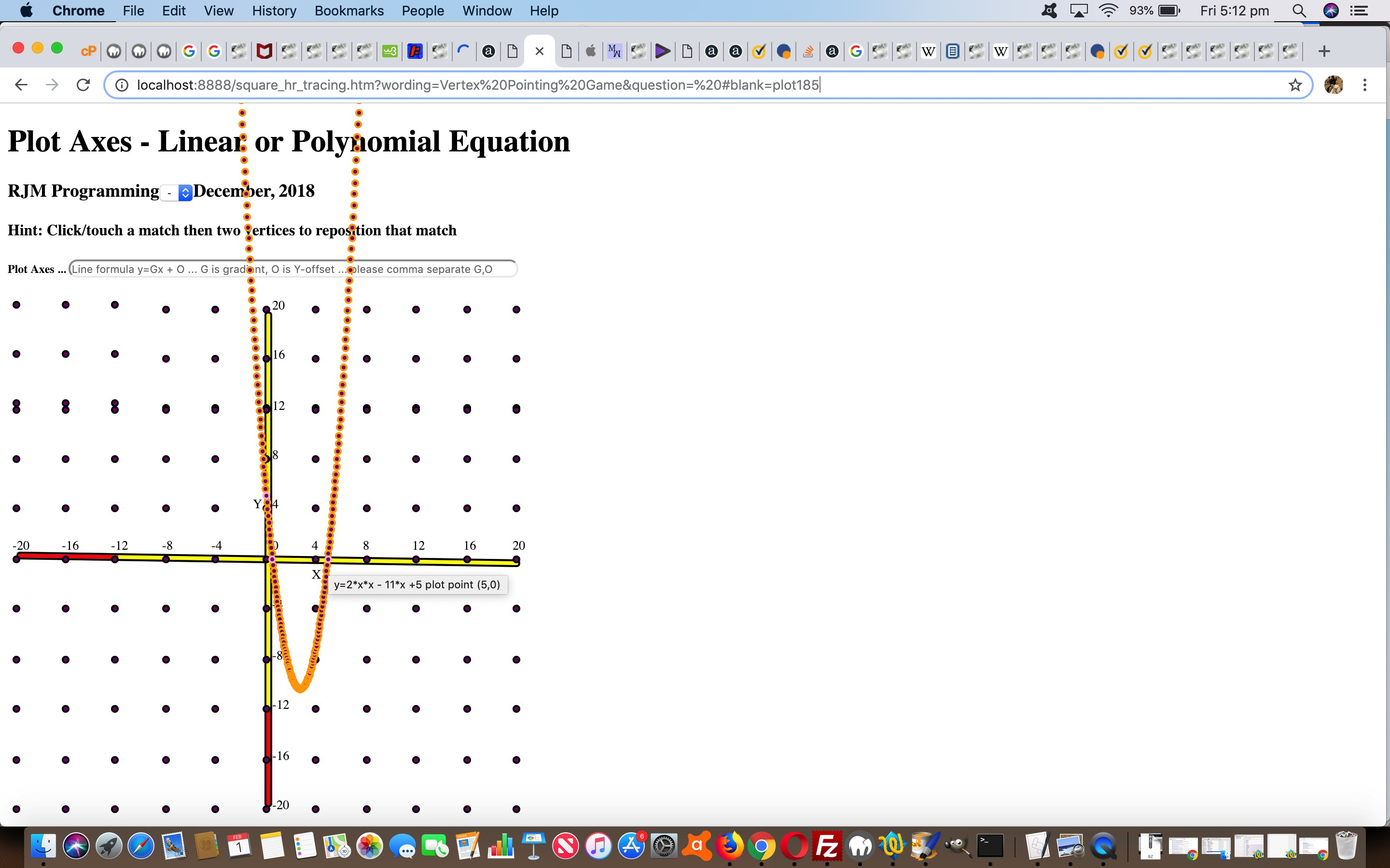 HTML Square Horizontal Rule Plot Polynomial Tutorial