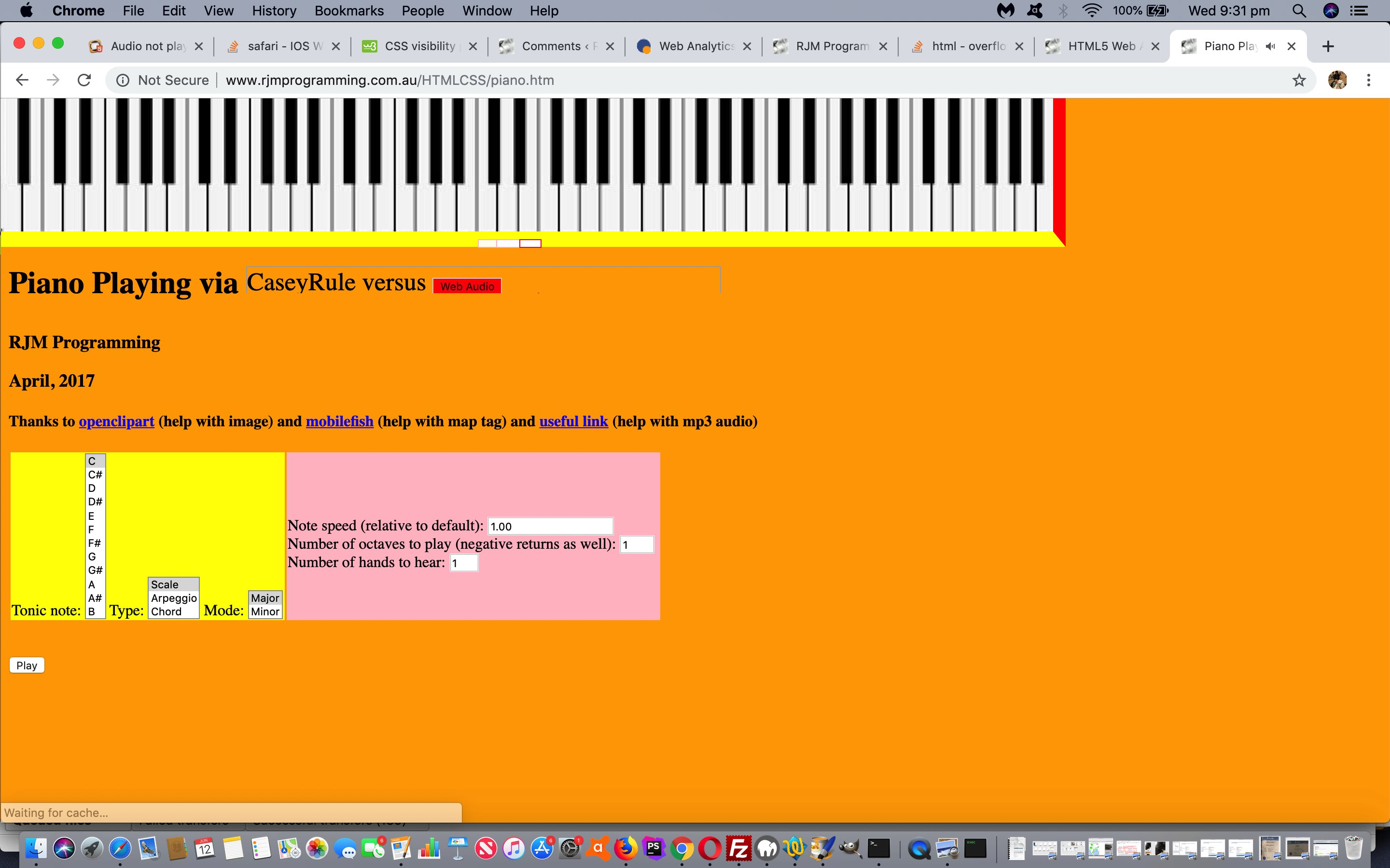 HTML5 Web Audio Piano Tutorial