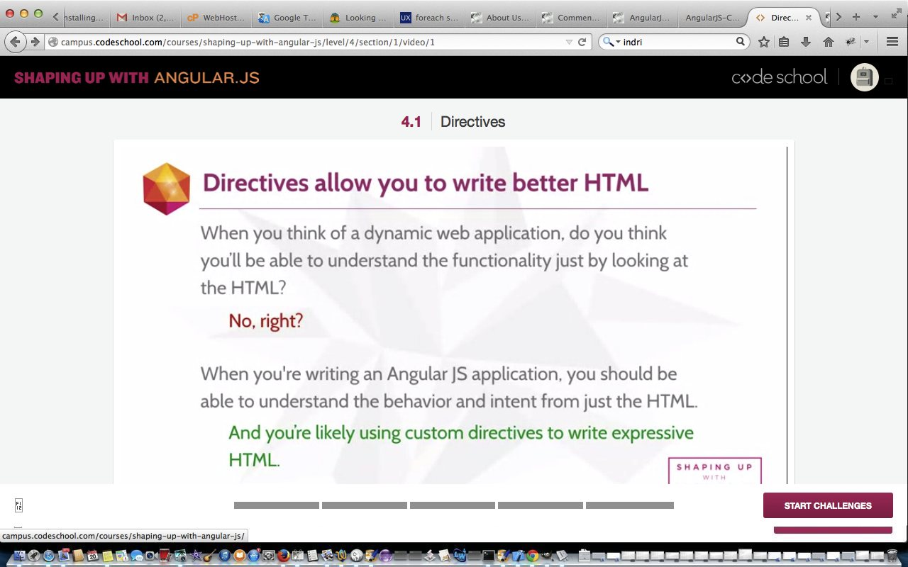 AngularJS Custome Directives Tutorial Slide 1 of 28