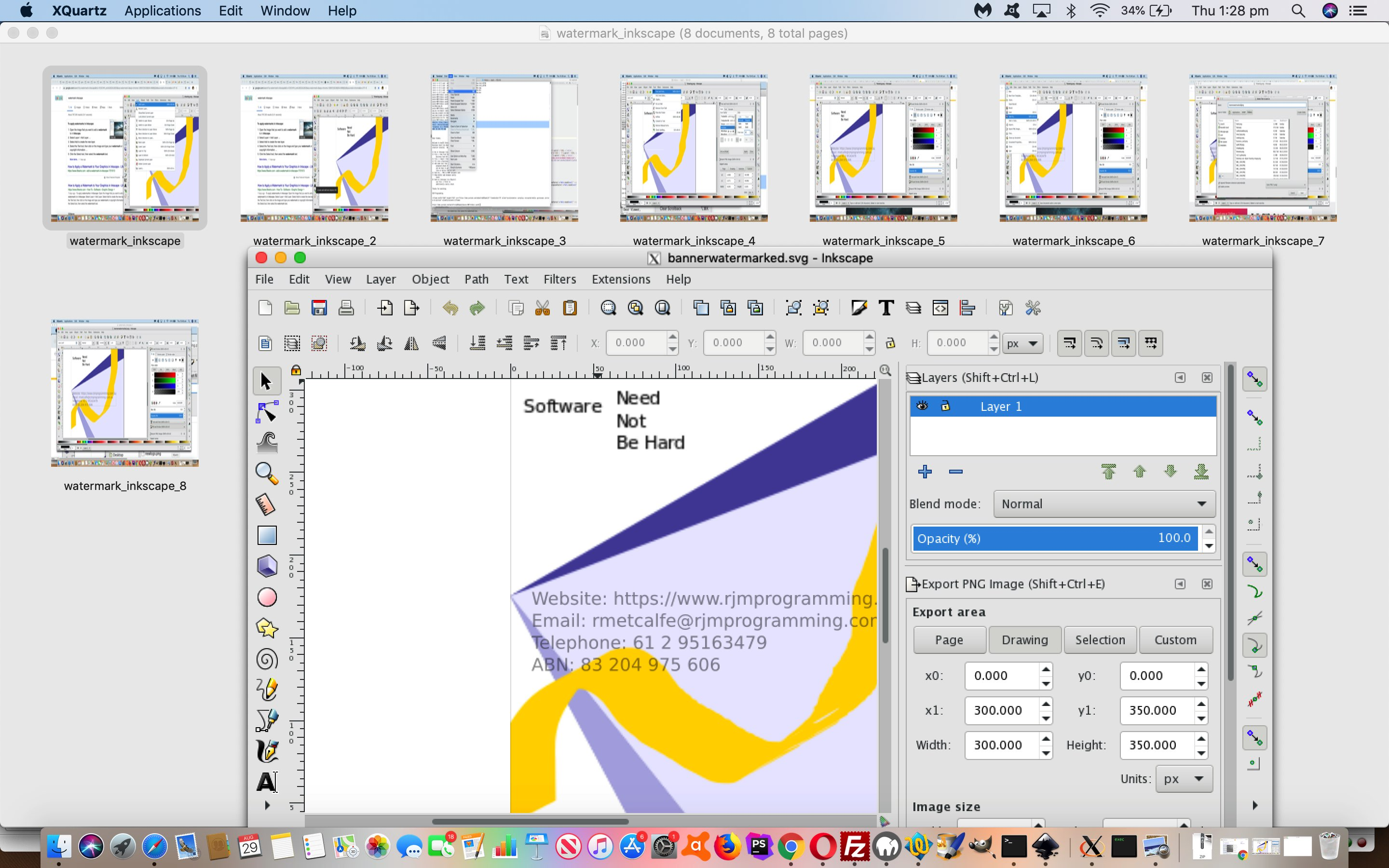 Inkscape Vector Image Editor Watermark Tutorial