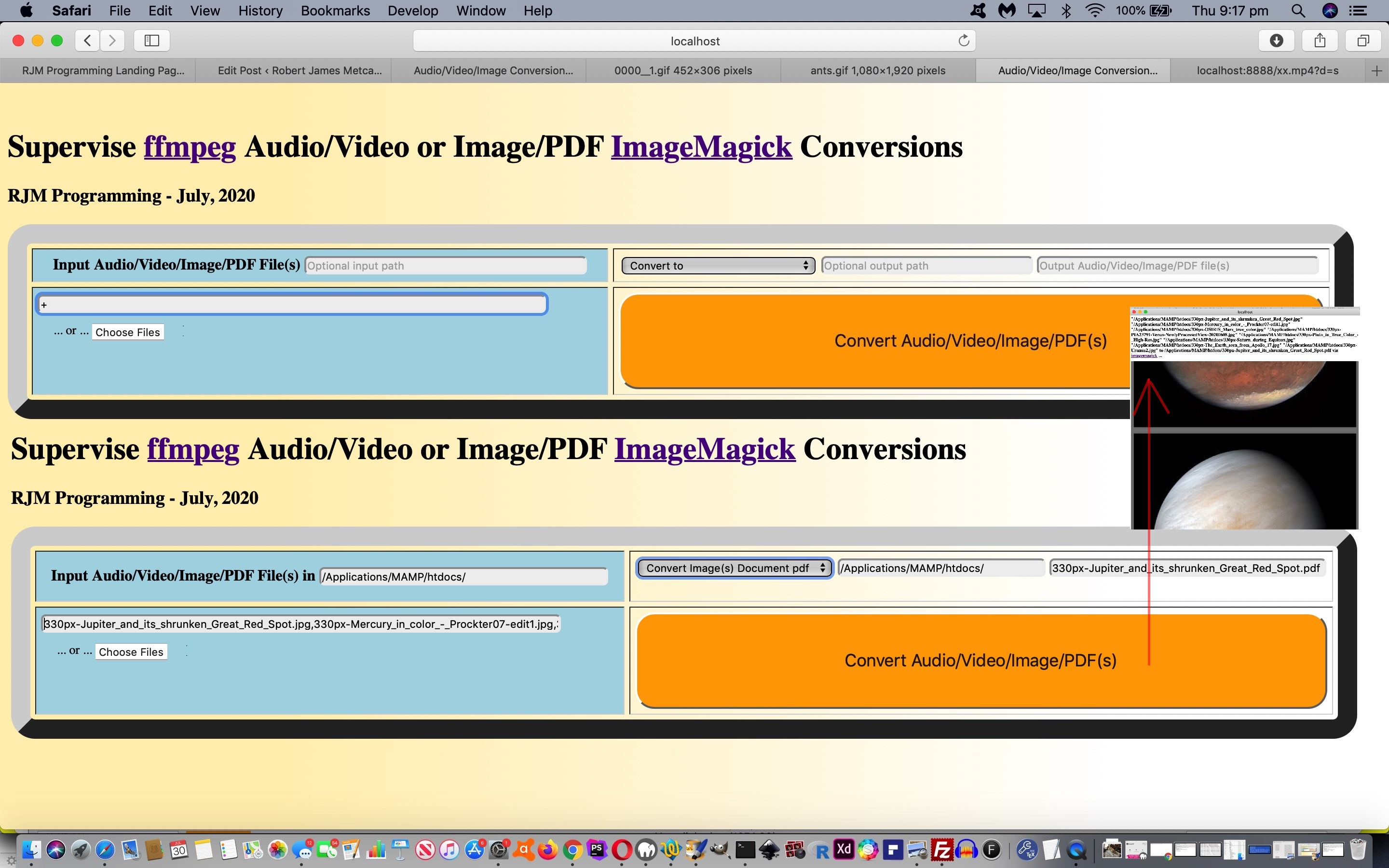 Image/PDF and Audio/Video Supervised Multiple Tutorial