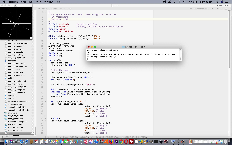 C++ X11 Analogue Clock Primer Tutorial