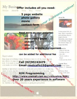See our Website Flyer ... just click