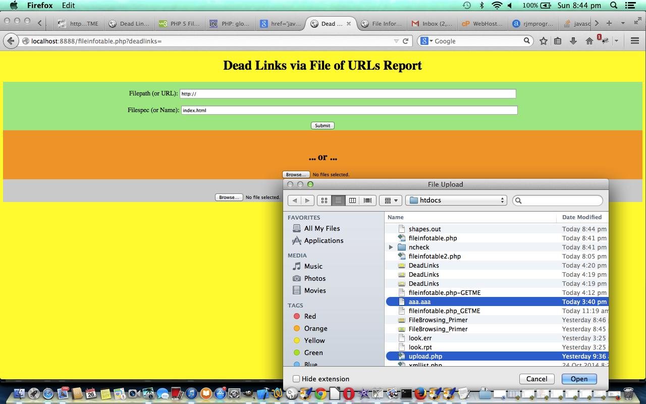 PHP/HTML/Javascript Dead Links Primer Tutorial