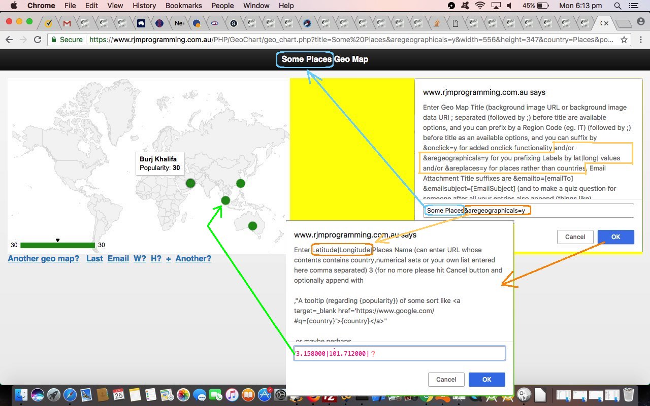 Google Geo Chart Co-ordinate Plotting Tutorial