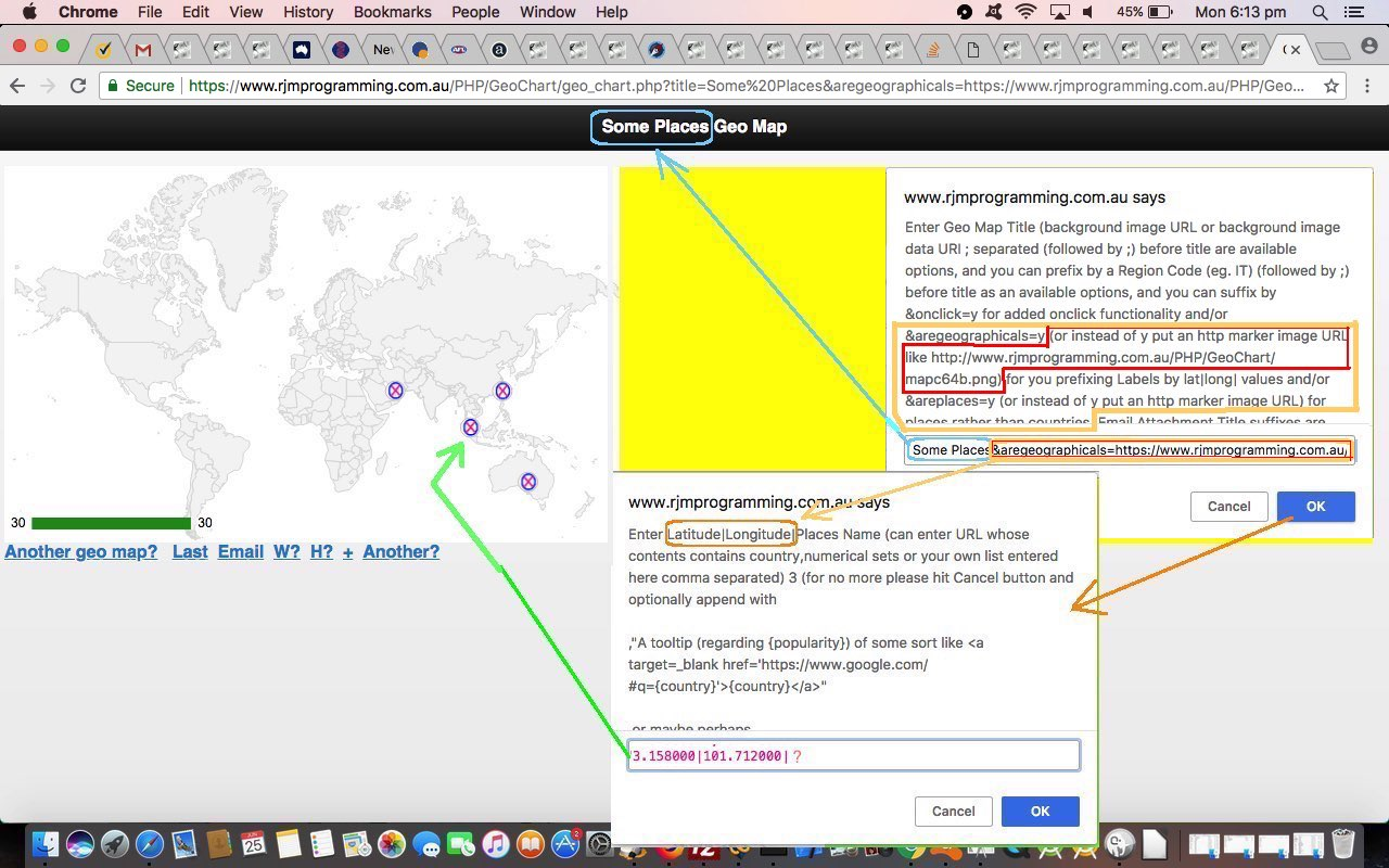 Google Geo Chart Co-ordinate Marker Tutorial