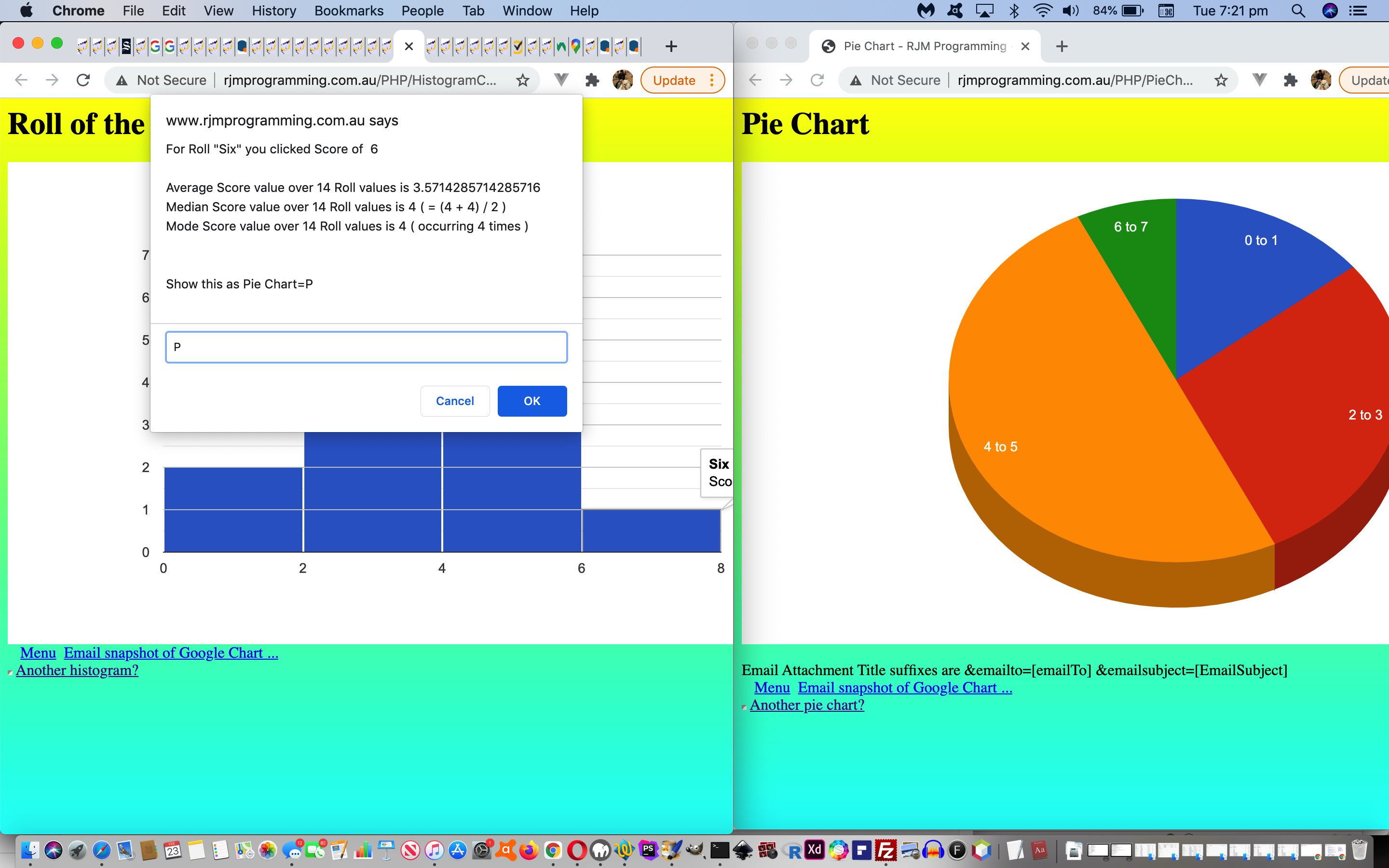 Google Chart Histogram Chart Pie Chart Interface Tutorial