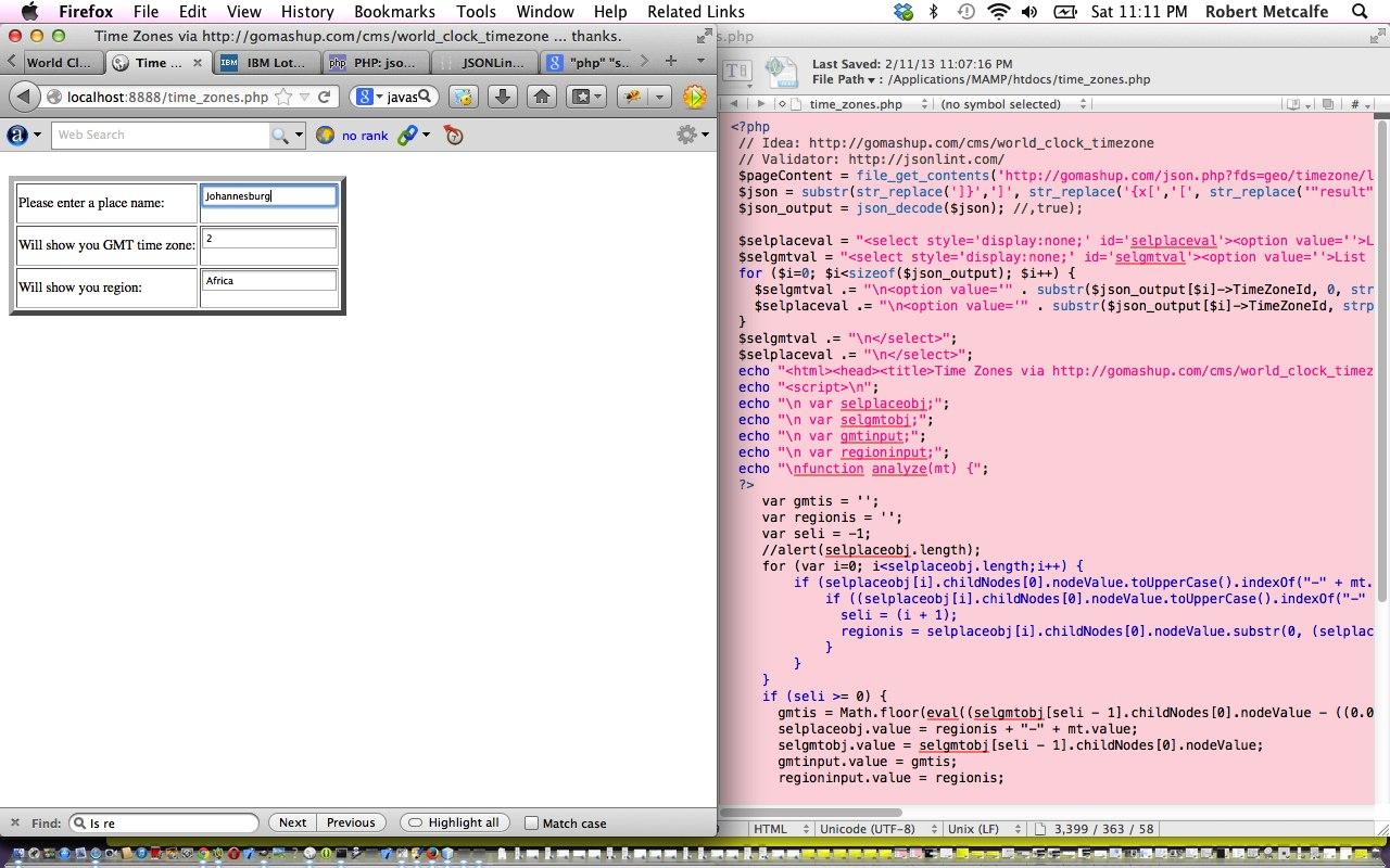 PHP/Javascript/HTML Public JSON Data Usage Primer Tutorial