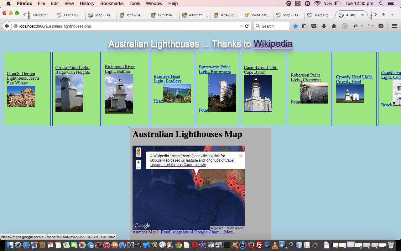 PHP Lighthouses in Australia Primer Tutorial