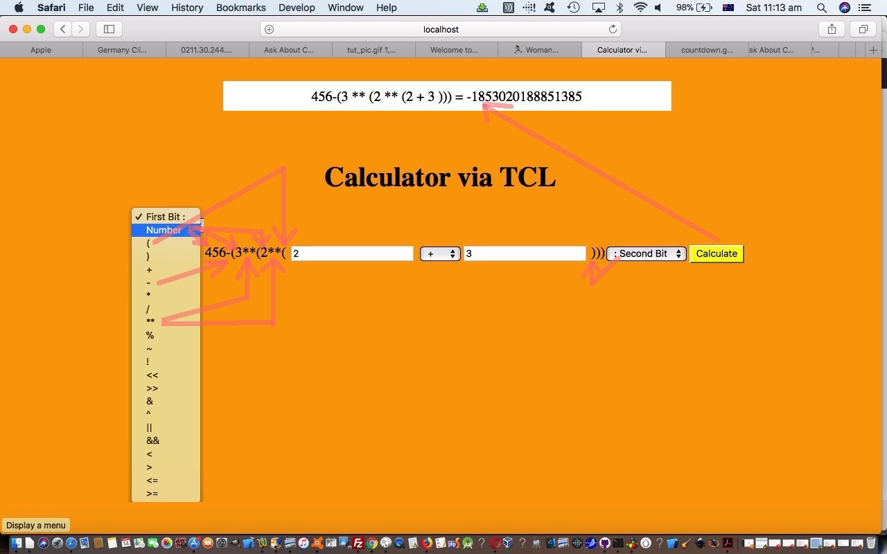 Tcl and Javascript and PHP Calculator Tutorial | Robert Metcalfe Blog