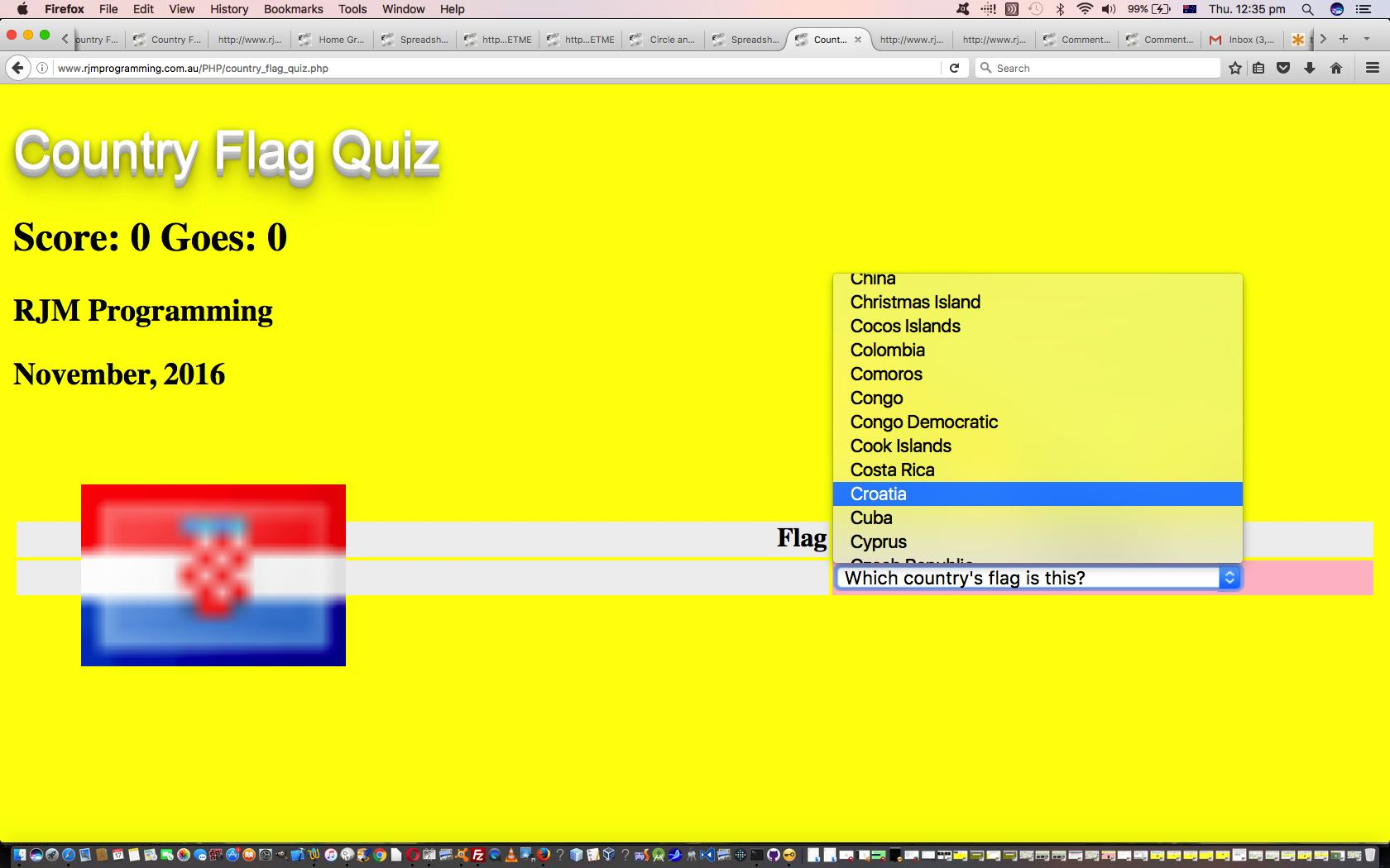 Country Flag Quiz Game Primer Tutorial