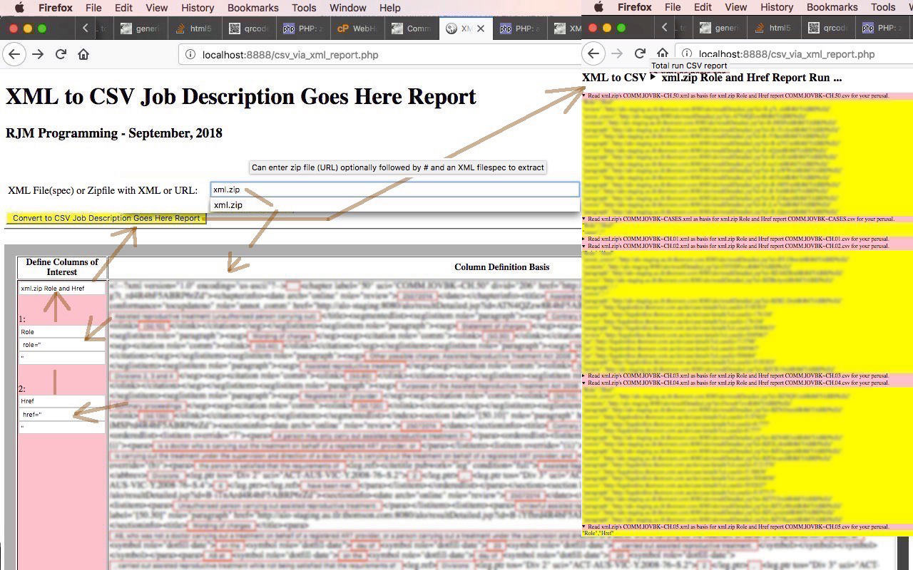 XML to CSV via Zip Command Line Report Tutorial