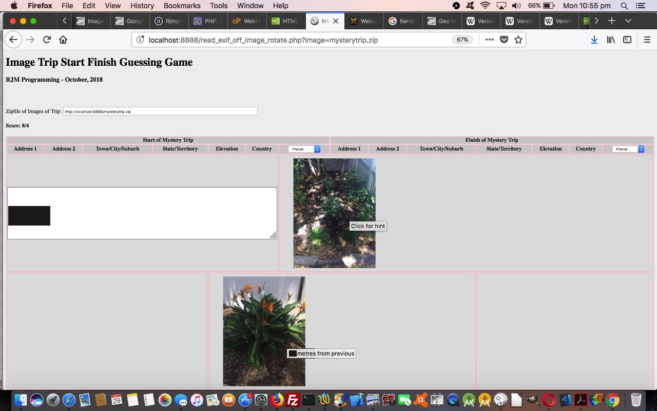 PHP Exif Image Zip Mystery Game Hints Tutorial