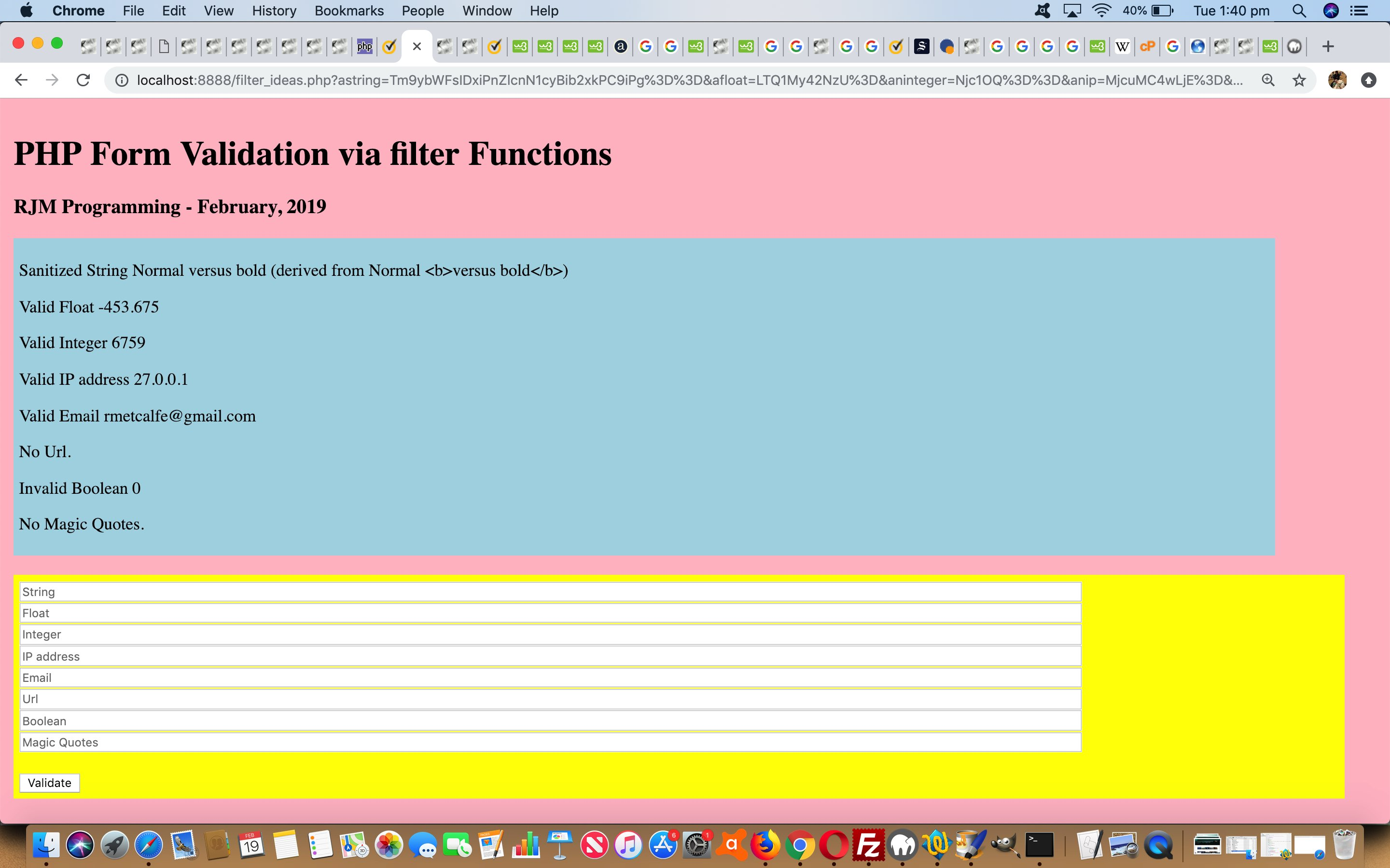 PHP Form Validation via Filter Extension Tutorial