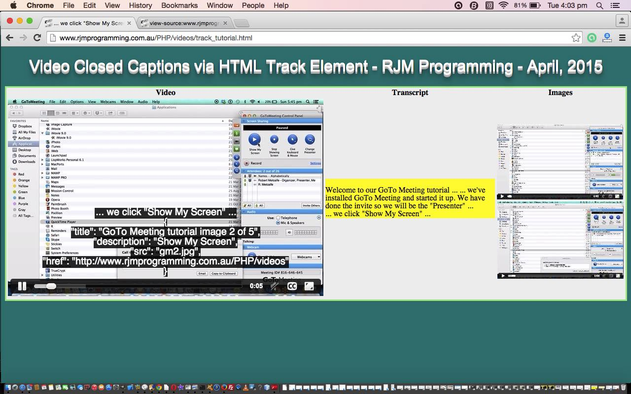 HTML5 Track Element Primer Tutorial