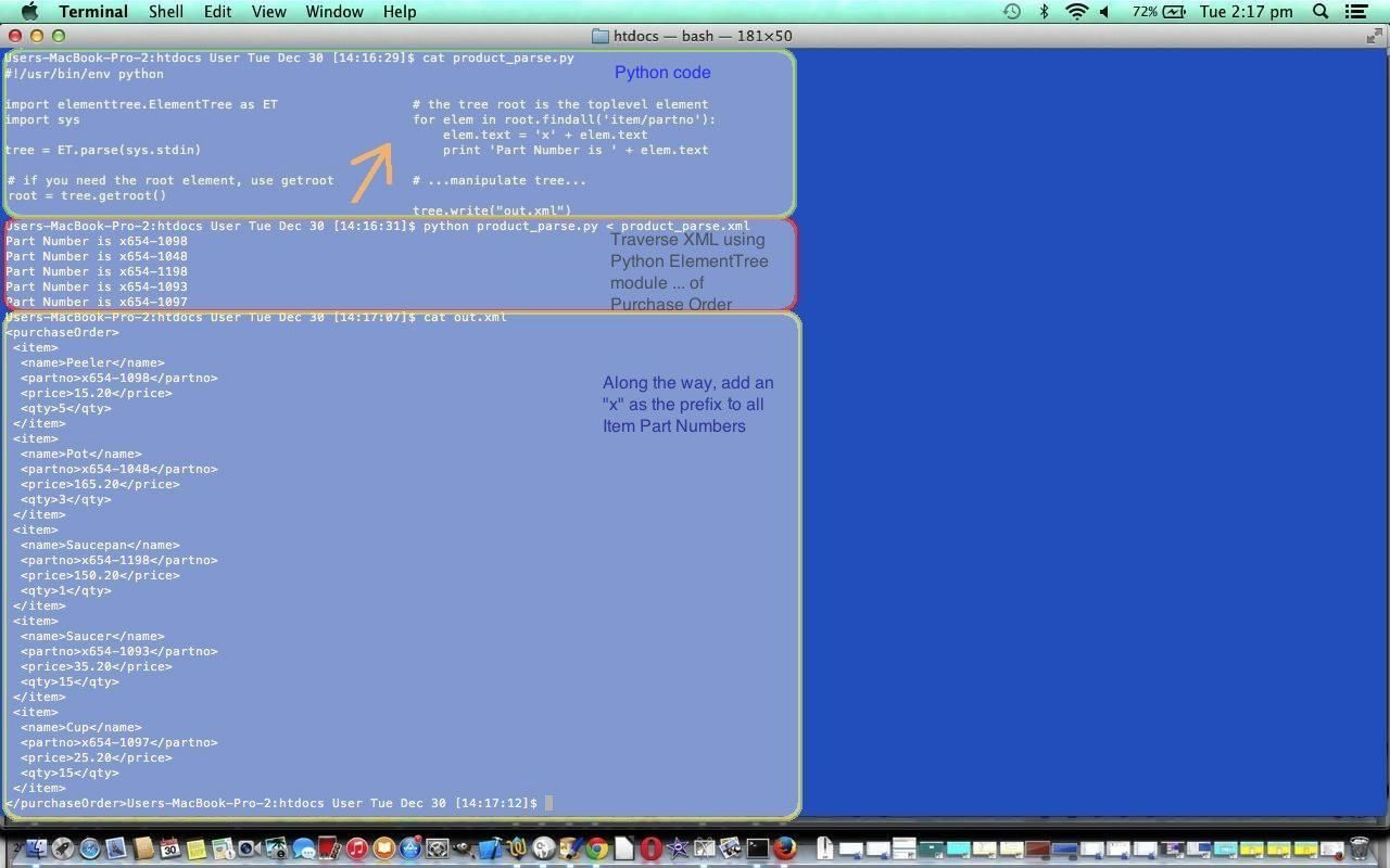 Python XML Primer Tutorial ... http://www.python.org/