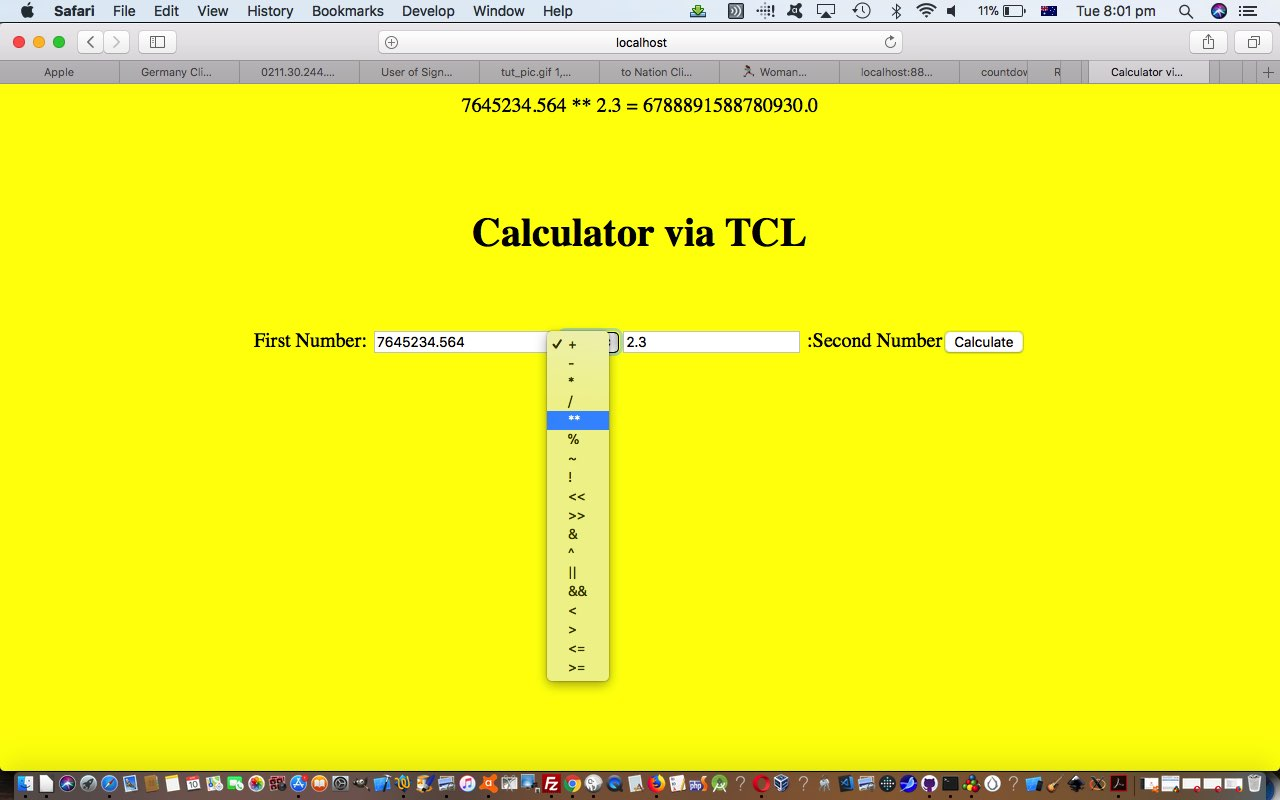 Tcl and PHP Calculator Tutorial