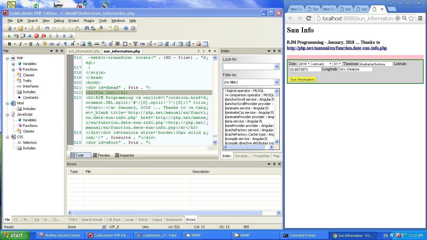 PHP IDE Codelobster Primer Tutorial   Robert James