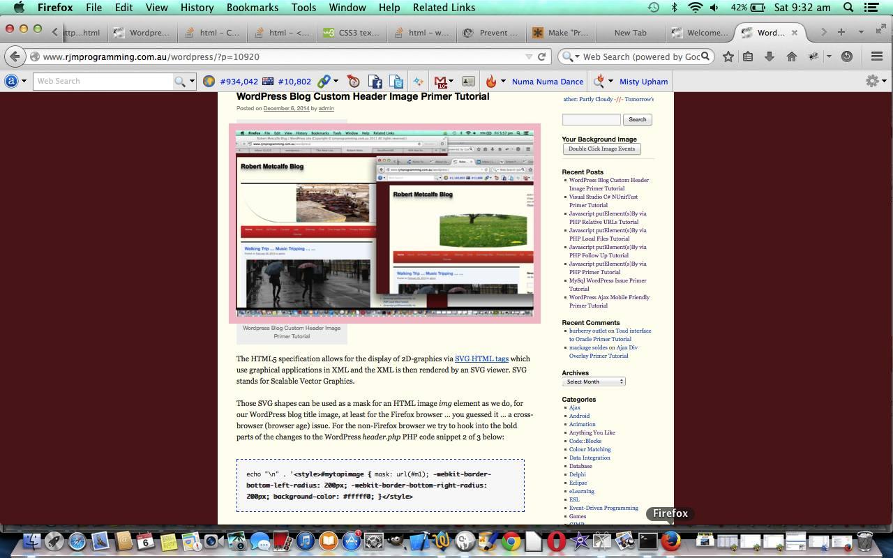 Wordpress Blog Code Tag CSS Primer Tutorial