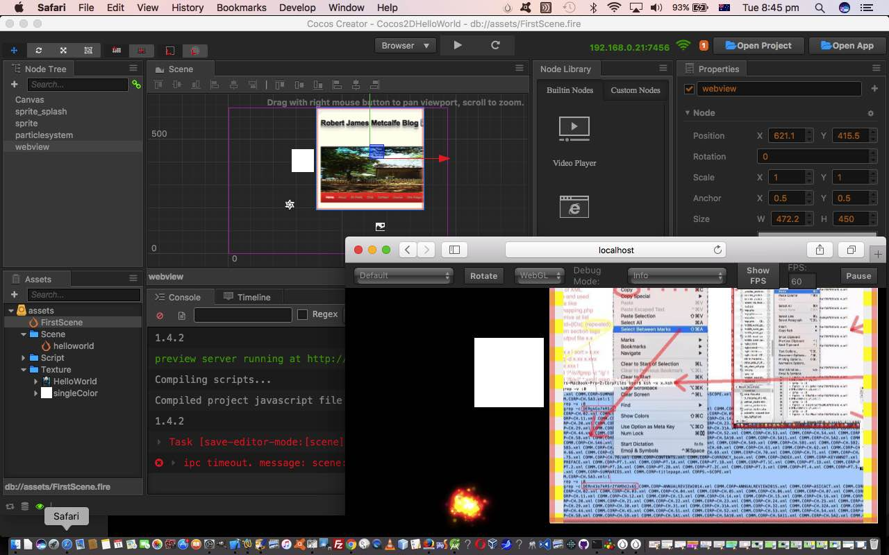 Cocos2d Mac Game Hello World Cocos Creator Tutorial | Robert