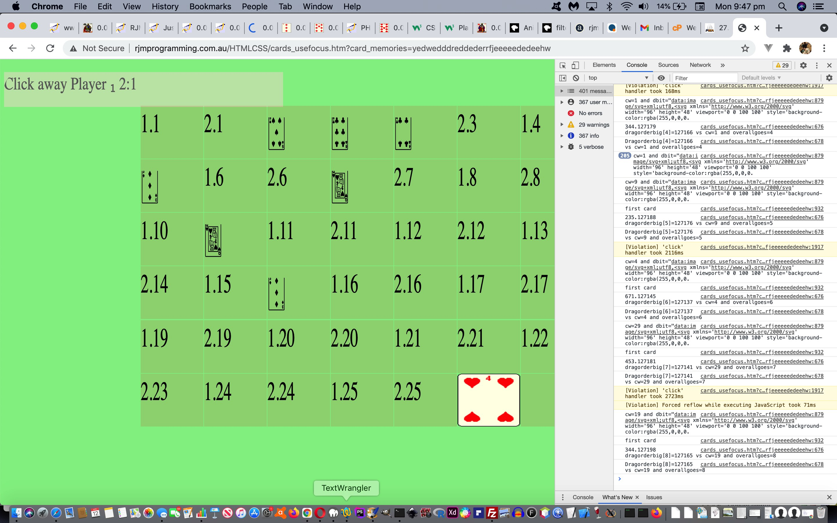 Just Javascript Five Hundred Card Game Tutorial