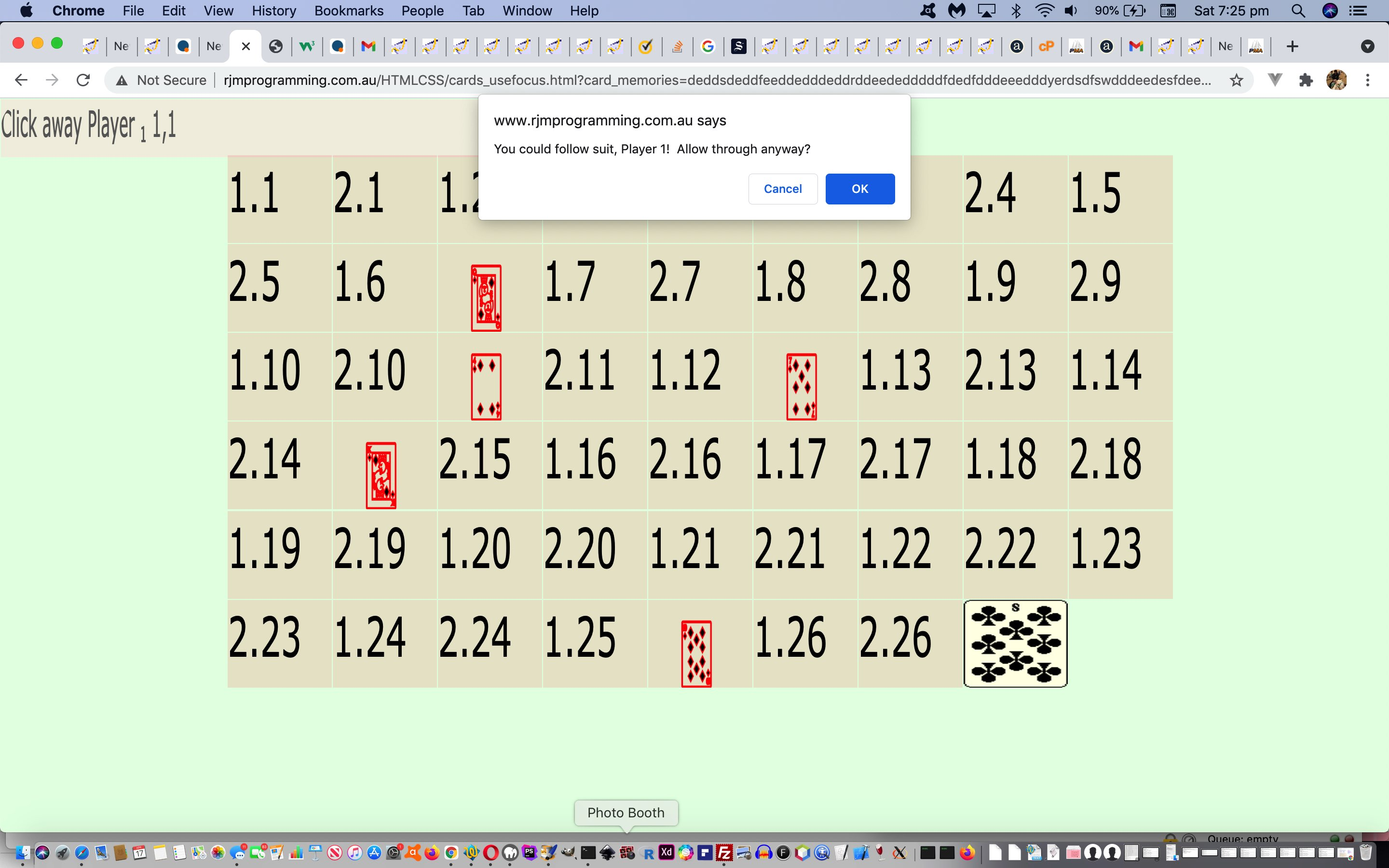Just Javascript Five Hundred Card Game Follow Suit Tutorial