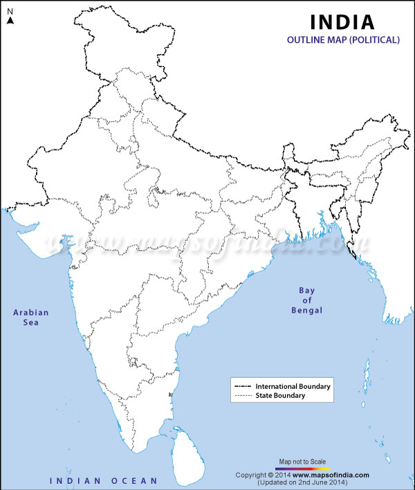 Political Map of India - Thank you to http://www.mapsofindia ...