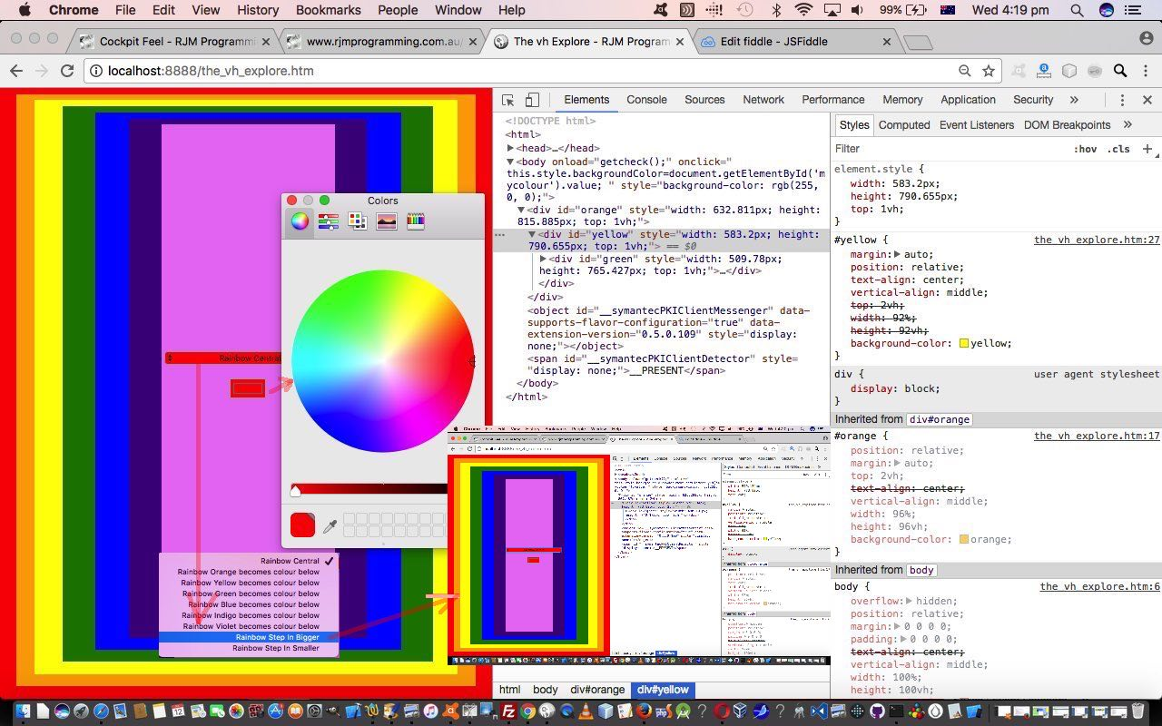 HTML Nested Centering via CSS and Javascript DOM Tutorial