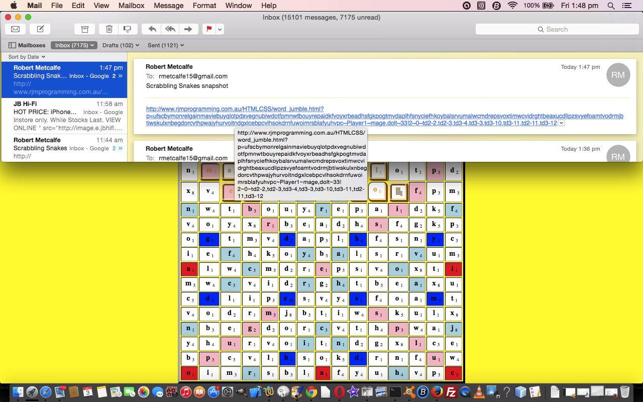 Htmljavascript guided snake game primer tutorial robert htmljavascript scrabbling snakes game email tutorial baditri Gallery