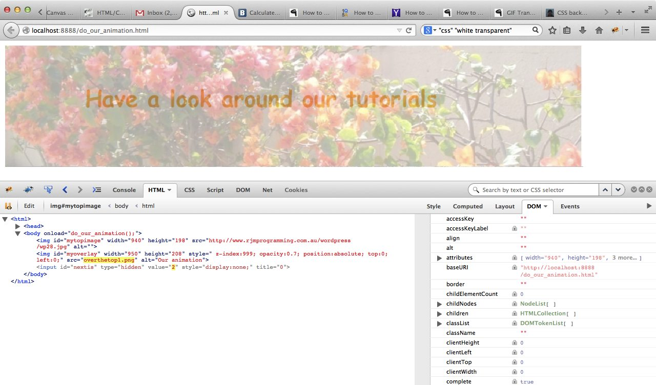 html/javascript overlay primer tutorial | robert metcalfe blog